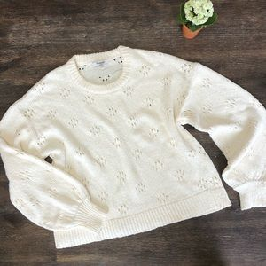 Madewell sweater eyelet pullover NWT